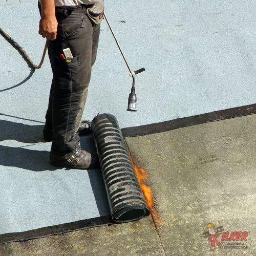 Modified Bitumen Roofing is Often Applied Using a Blowtorch.