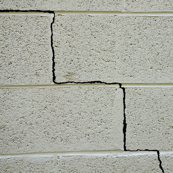 crack through foundation