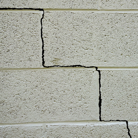 Crack in a foundation