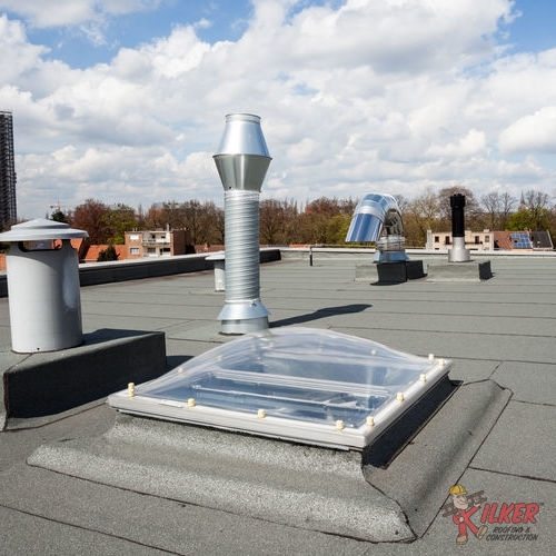 Because Industrial Roofs Require A Lot of Vents and Exhausts, Flat Roofs Are Often Ideal For Them.
