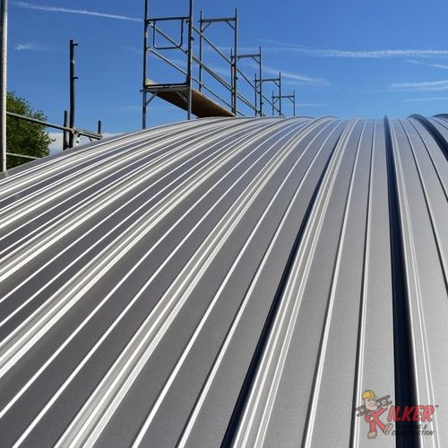 Standing Seam Metal Roofs Like This One are Common in Commercial and Industrial Roofing.