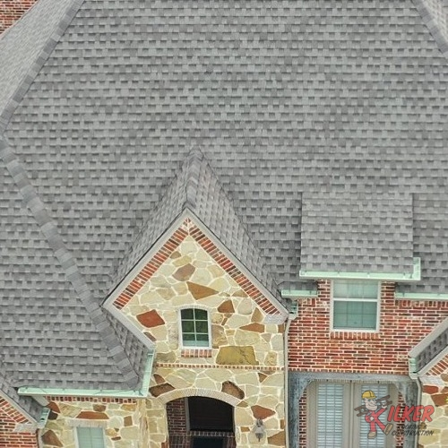 This New Roof Replacement Features an Asphalt Shingle Roof.