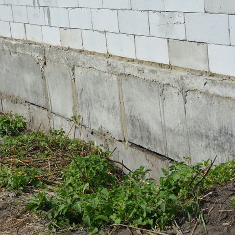 slightly damaged foundation