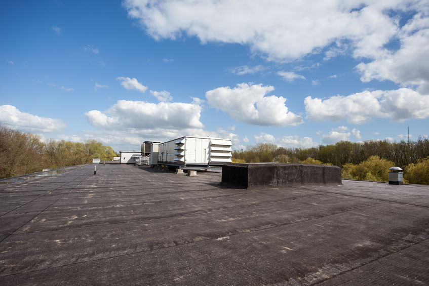 black EPDM roofing