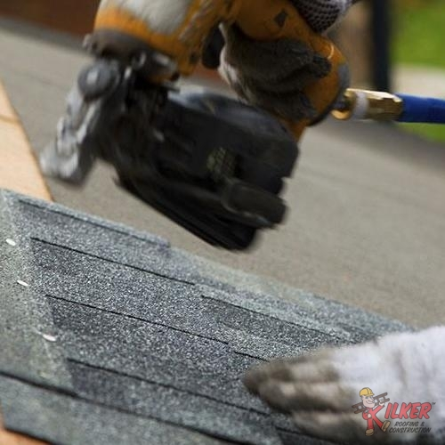 We Are Experienced With a Variety of Roofing Systems Like The Asphalt Shingle Roof Being Nailed Down Here.